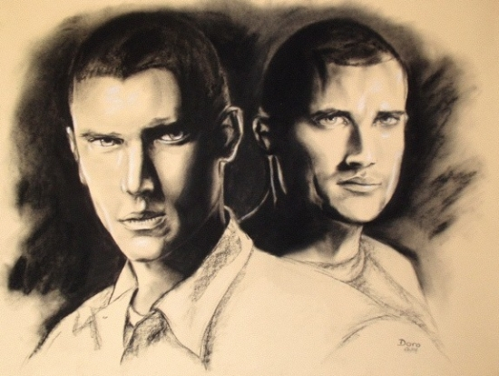Dominic Purcell, Wentworth Miller by Doro